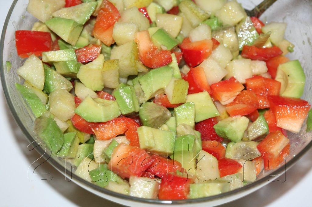 Салат из авокадо с грушей рецепт очень вкусный