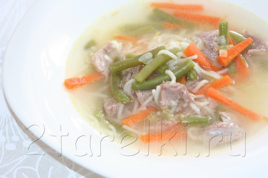 Суп из индейки с зеленой фасолью