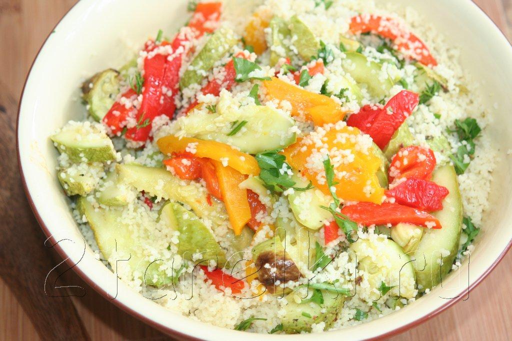 Кус-кус с печеными овощами