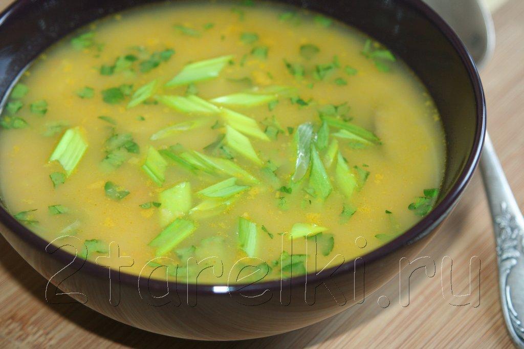 Суп-пюре из нута с шиитаке