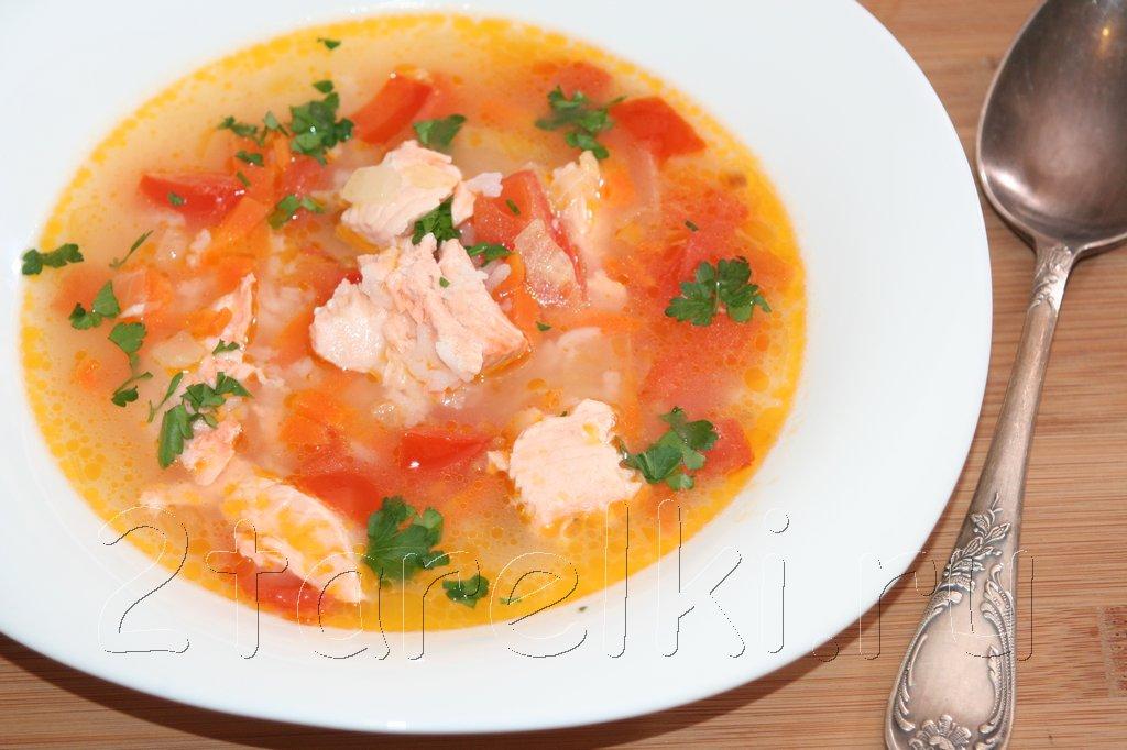 Рисовый суп с семгой