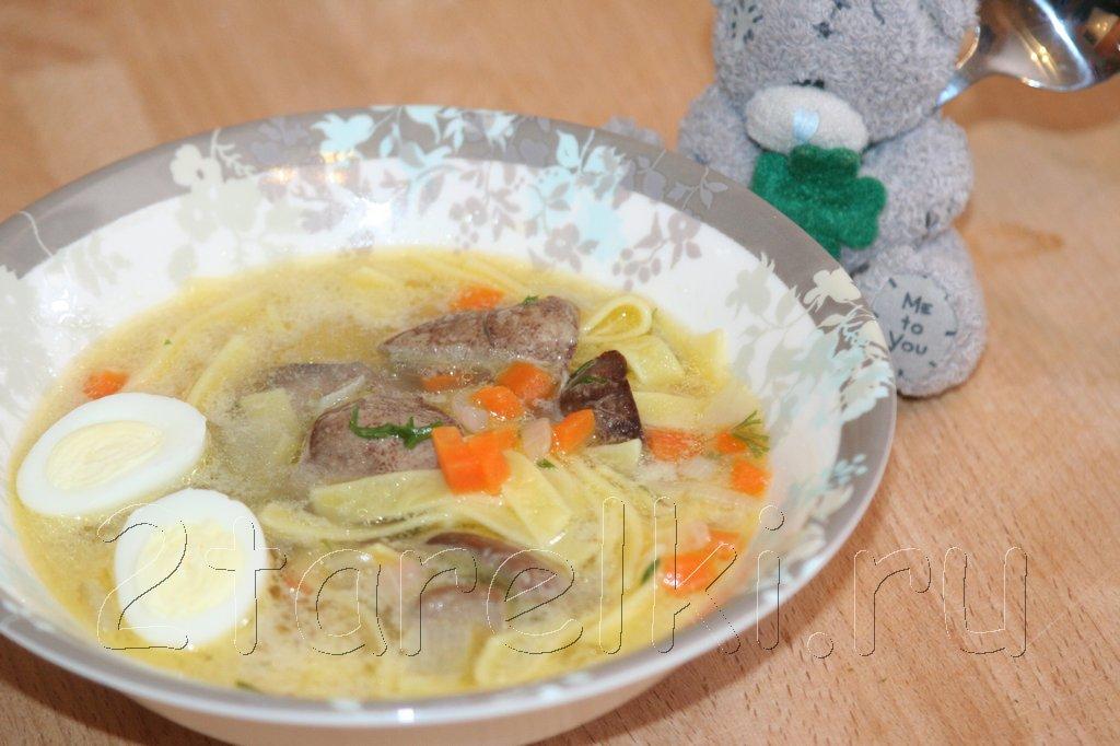 Супчик для детей с кроличьими потрошками