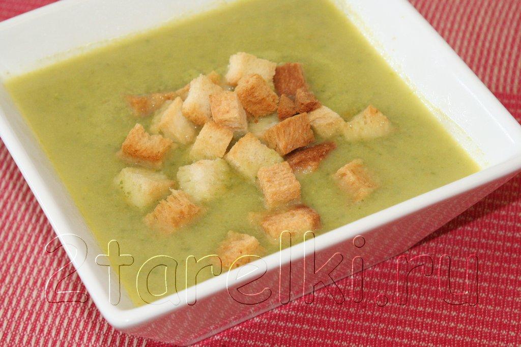 Крем-суп из кабачка и шпината