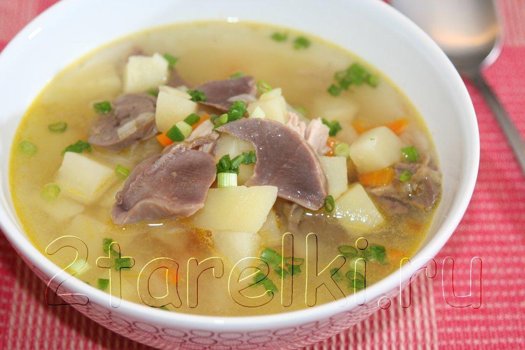 Картофельный суп с индейкиными потрошками