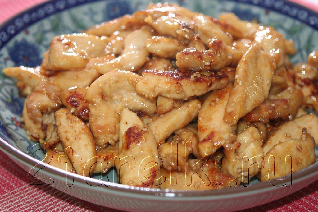 Курица с кунжутом по-китайски