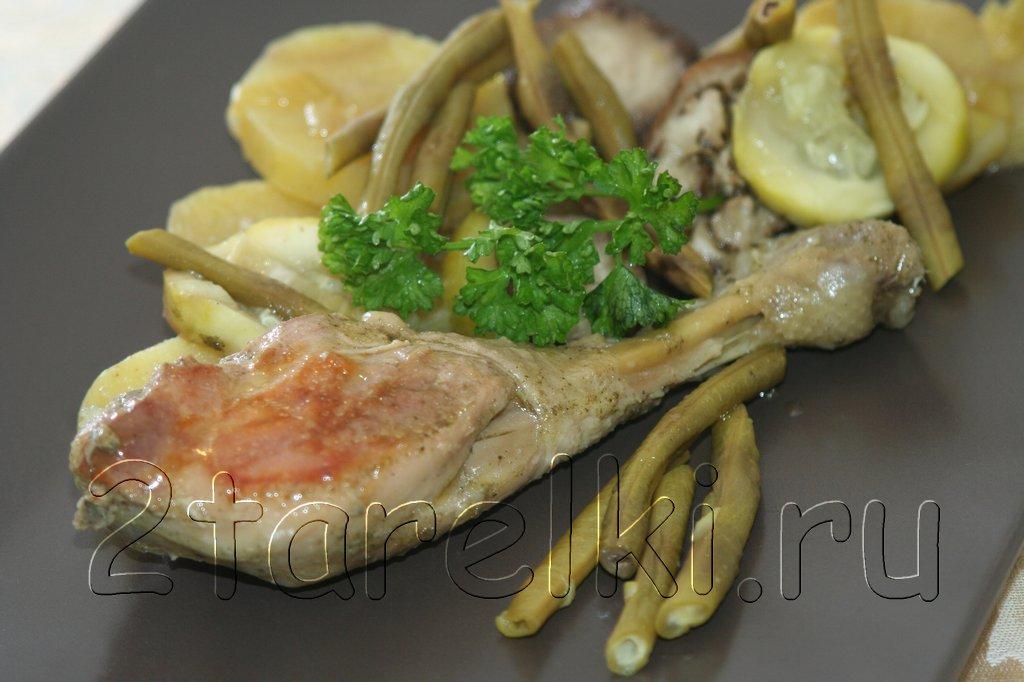Жаркое из курицы с овощами в казане