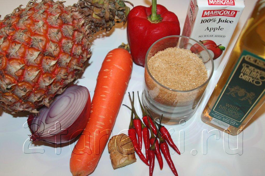 Рецепт чатни из ананасов