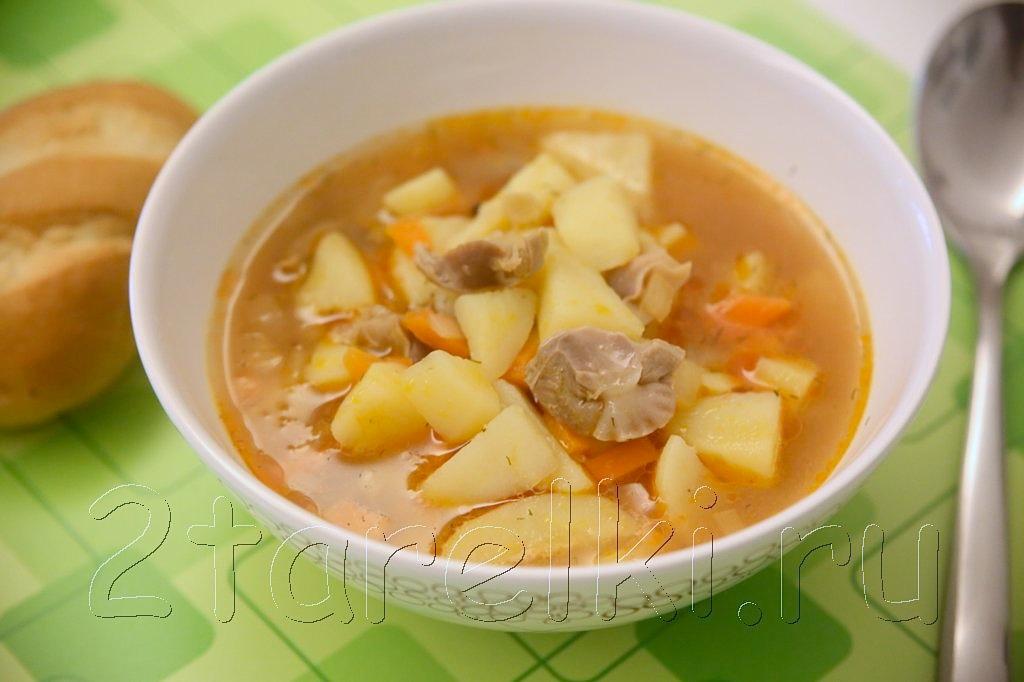картофельный суп с желудочками