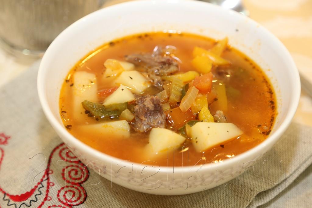 Венгерский суп-гуляш из хвостов