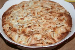 Фруктово-ореховая шарлотка