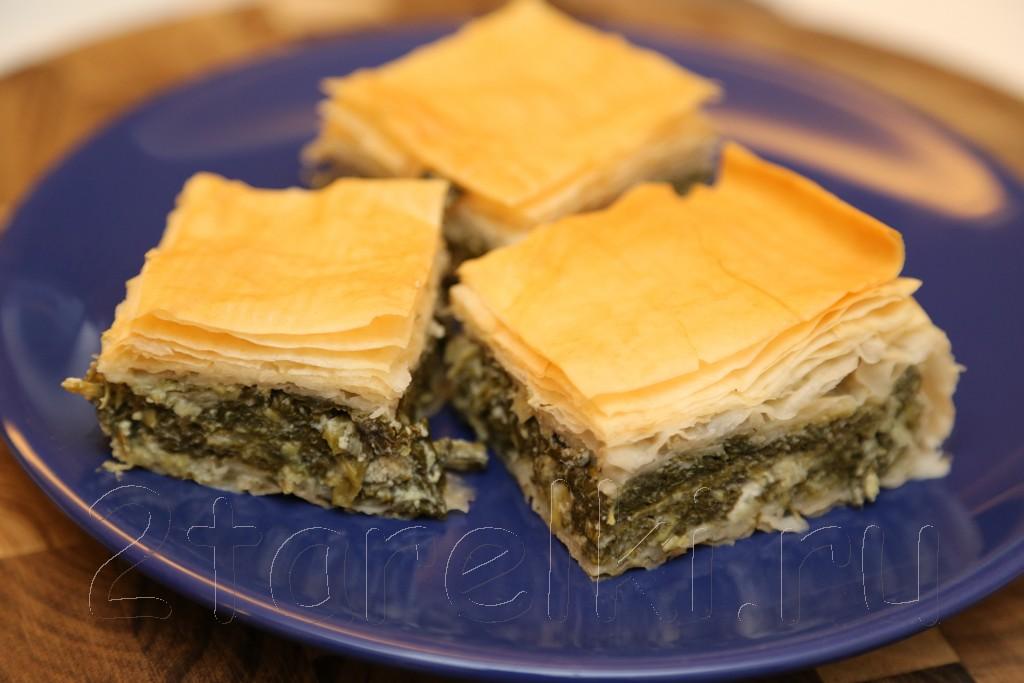 Спанакопита - греческий пирог со шпинатом