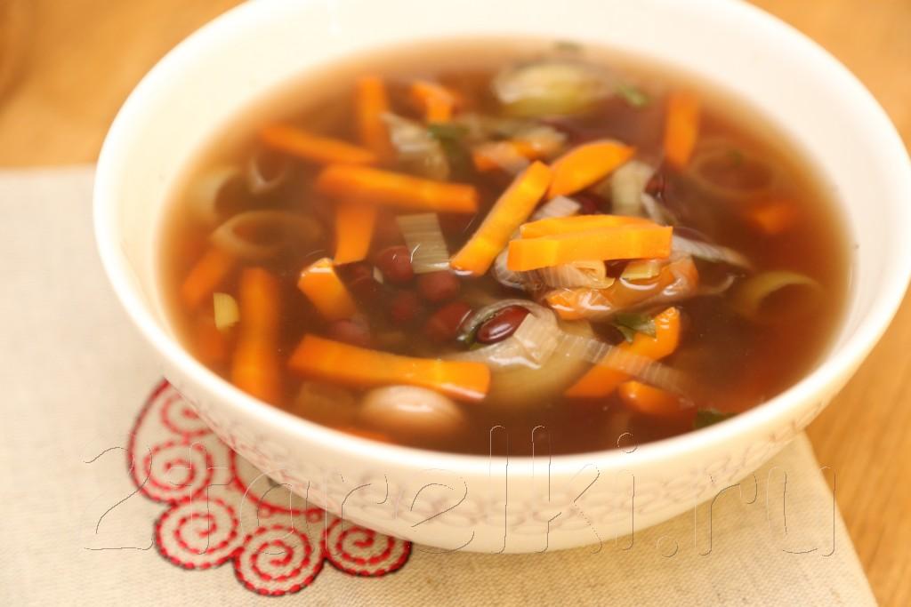 Фасолевый суп из рульки