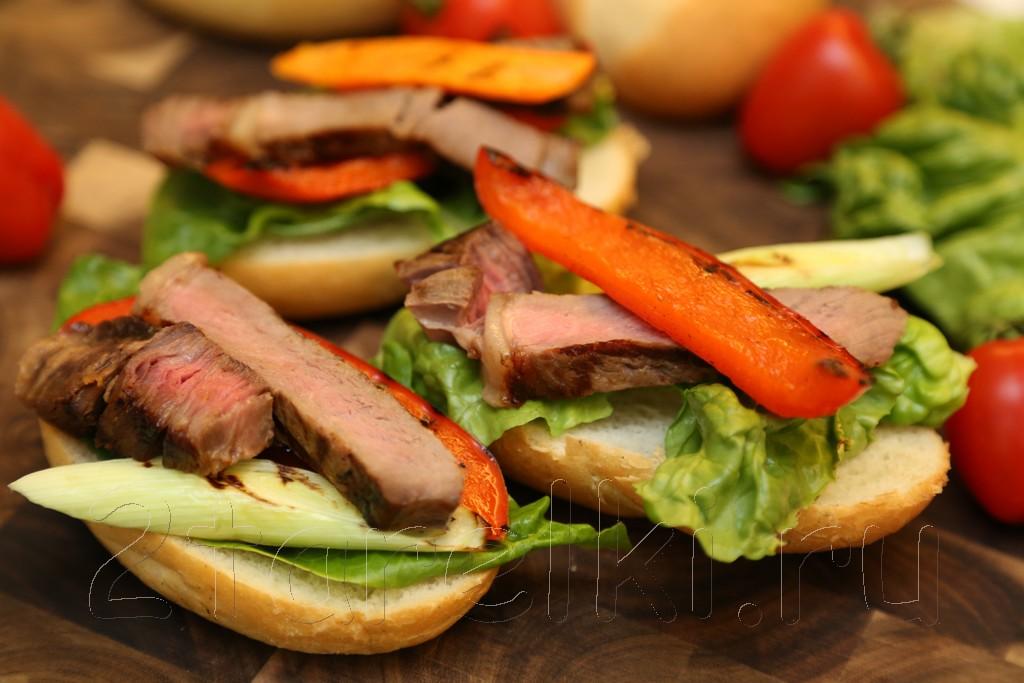 Сэндвичи со стейком и овощами 7