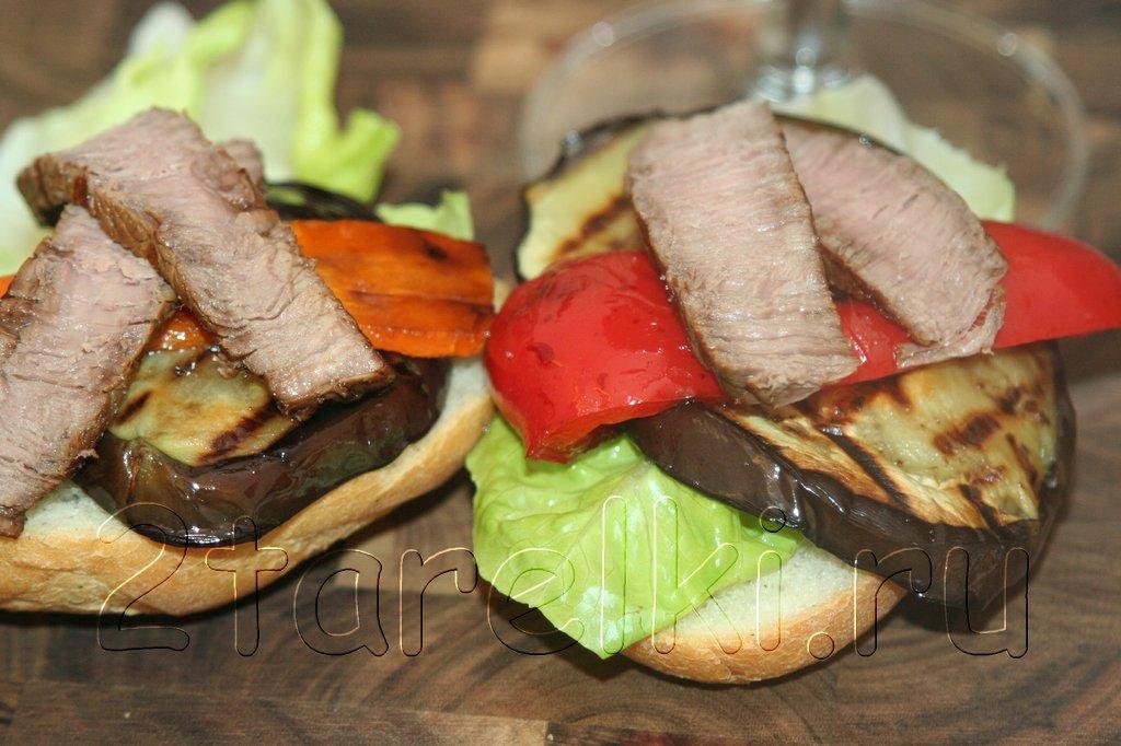 Сэндвичи со стейком и овощами 6
