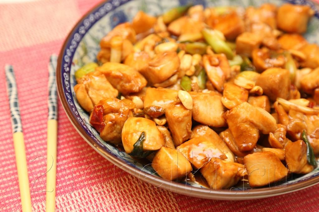 Курица по-китайски с соусом хойсин