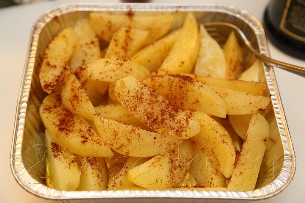 Острые картофельные дольки по-деревенски 2