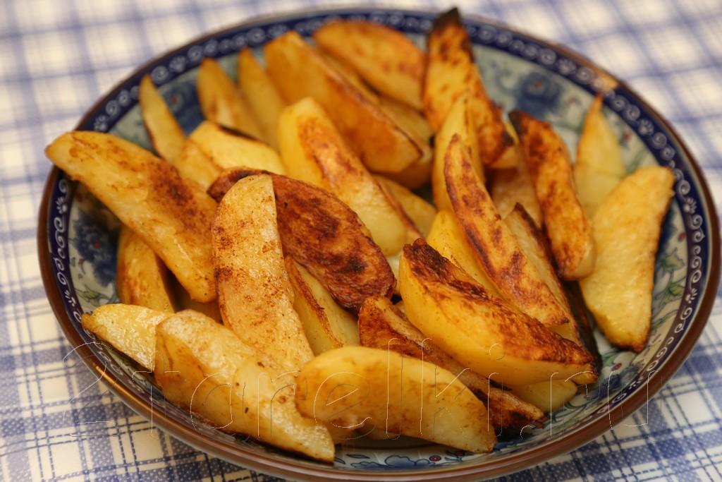 Острые картофельные дольки по-деревенски