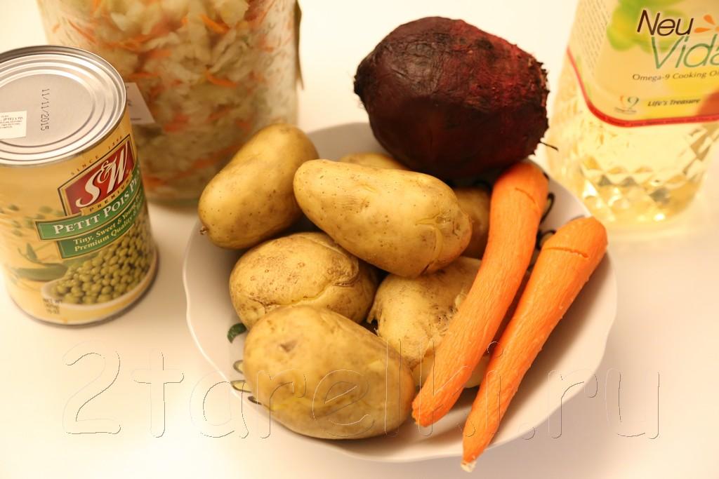 Винегрет с квашенной капустой 1