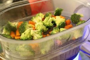 Палтус с овощами на пару 7