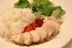Куриная грудка с рисом в пароварке 4
