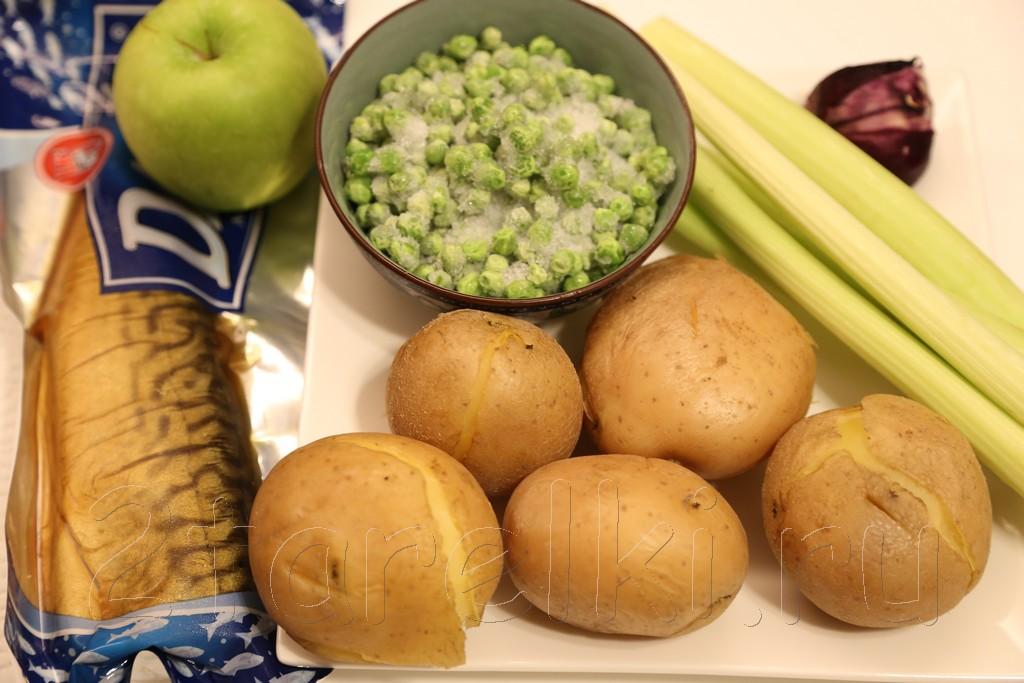 Салат из скумбрии 1
