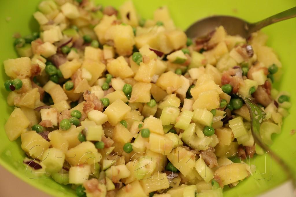 Салат из скумбрии 6