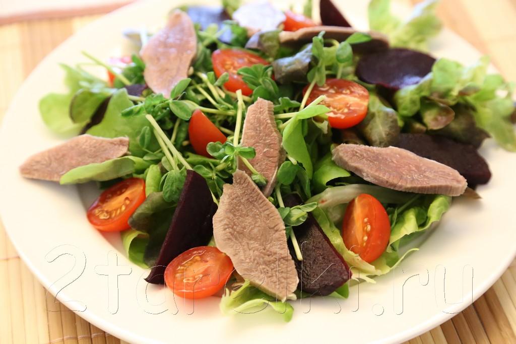 Фитнесс-салат с языком и помидорами 3