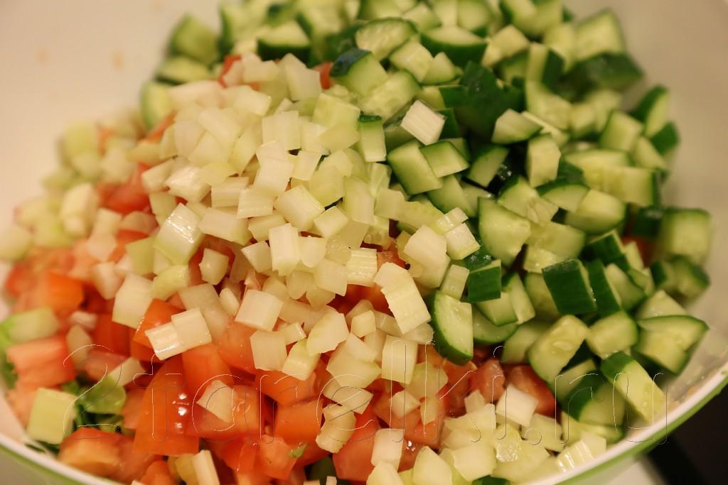 Семга на пару с кус-кусом и салатом 3
