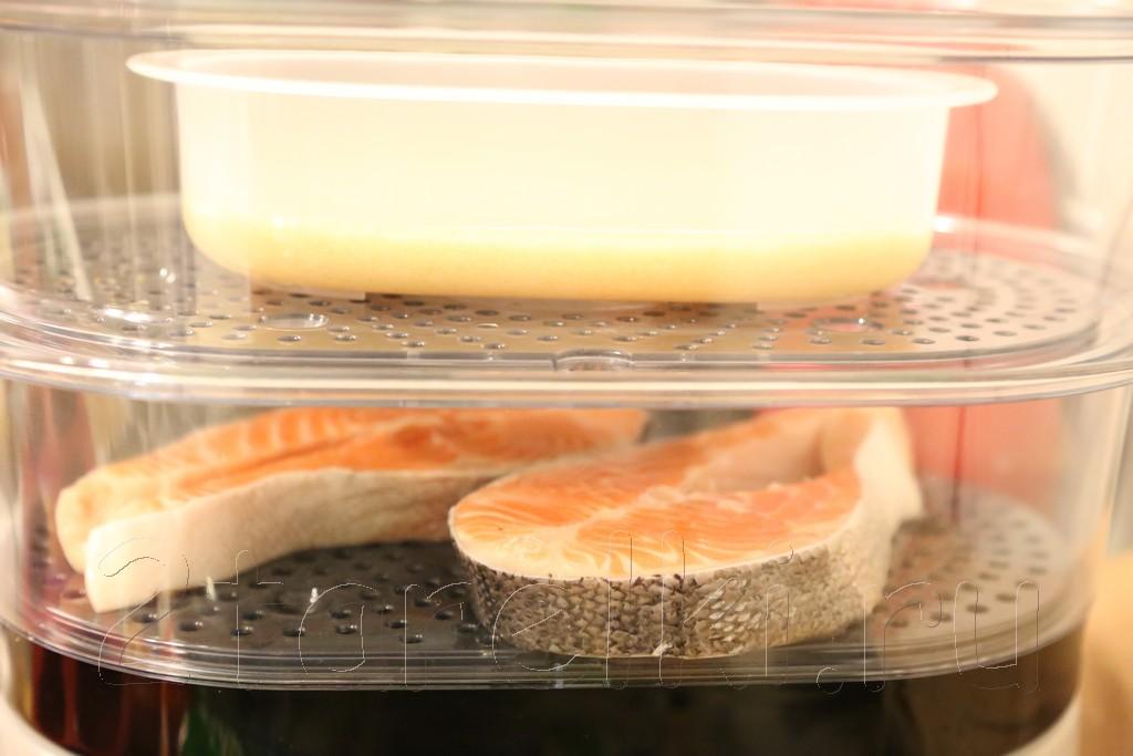 Семга на пару с кус-кусом и салатом 2
