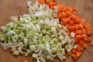 Крем суп со шпинатом и креветками 2