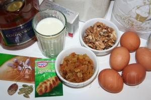 Пасхальный кулич с орехами и изюмом 1