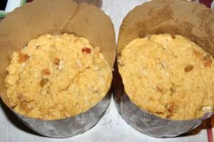 Пасхальный кулич с орехами и изюмом 10