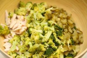 Салат из брокколи и курицы 4