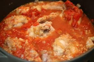 Кролик по-итальянски с томатном соусе с базиликом 10