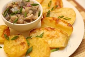 Селедка в горчичном соусе с запеченной картошкой 7