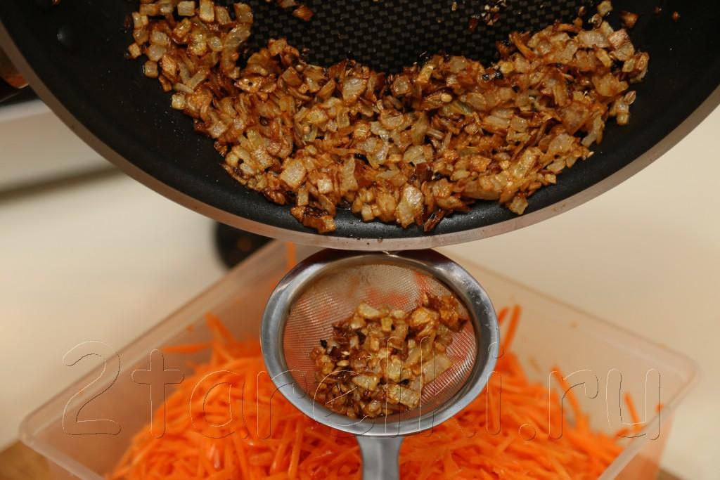 Морковь по-корейски с кунжутом 6