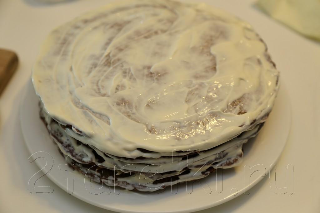 Слоеный печеночный торт 16