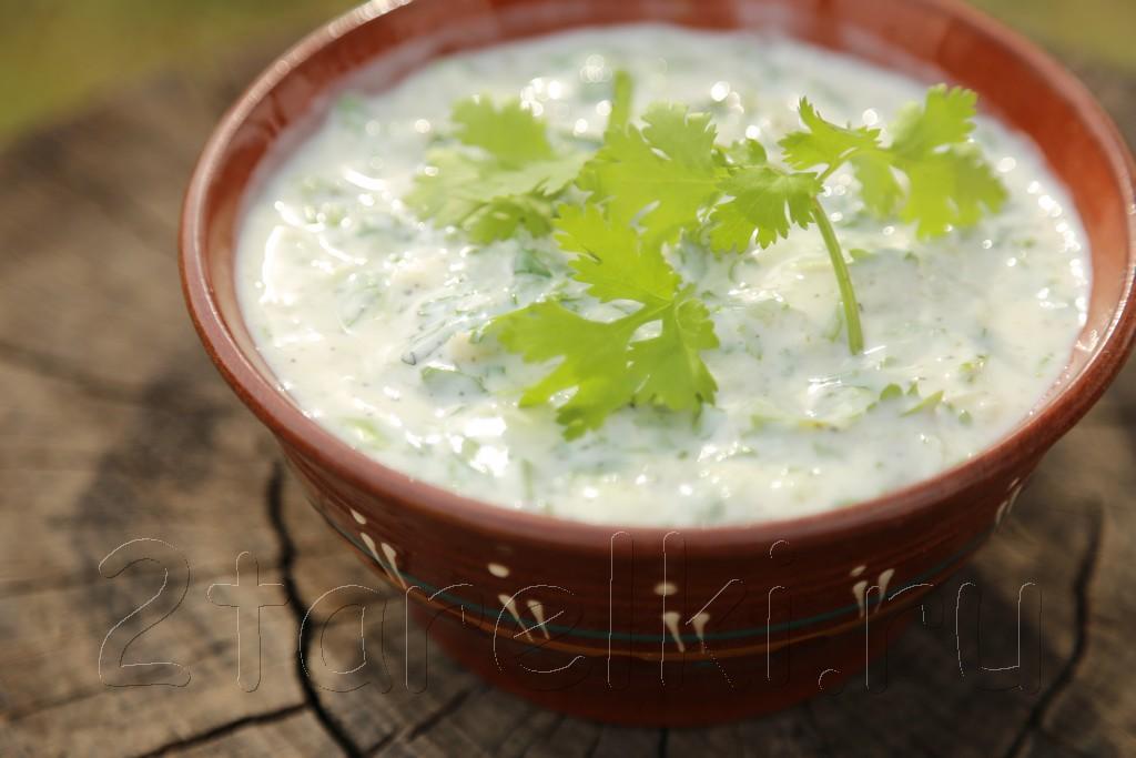 Йогуртовый соус к шашлыку