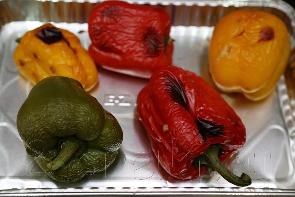 Печеные перцы в пикантном маринаде 2