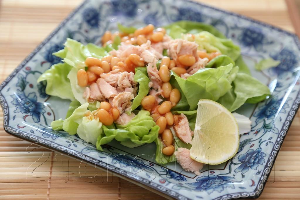 Фитнесс-салат с тунцом и фасолью 2
