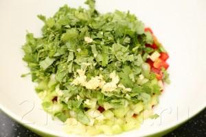 """Овощной салат """"Мозаика"""" 3"""