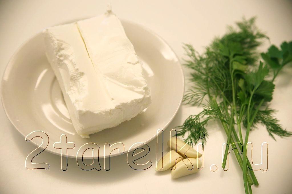 Намазка из острой брынзы с овощами 1