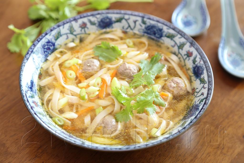 Суп с фрикадельками по-азиатски 10