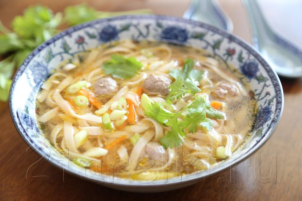 Суп с фрикадельками по-азиатски