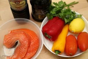 Запеченная с овощами семга 1