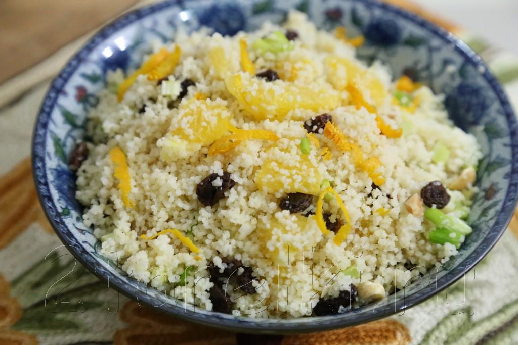 """Салат с кус-кусом и апельсинами """"Магриб"""""""