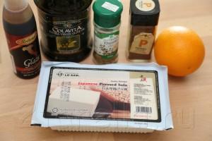 Тофу в апельсиновом маринаде 1