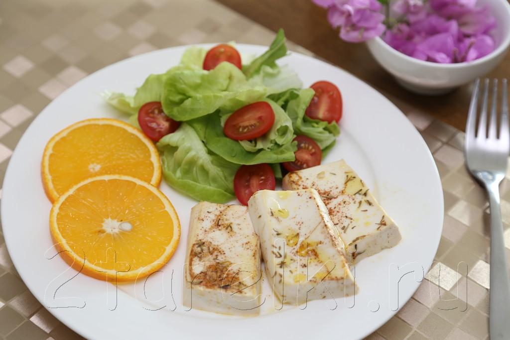Тофу в апельсиновом маринаде 5