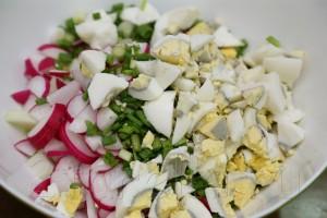 Летний салат из редиса с огурцами 3