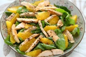 Салат из курицы со шпинатом 6